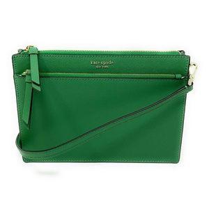 Kate Spade Cameron Zip Crossbody Bag Green Bean